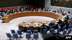 Le Conseil de sécurité de l'ONU à New York le 29 août 2017.