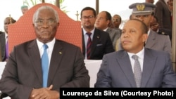 Manuel Pinto da Costa, Presidente e candidato, e Patrice Trovoada, primeiro-ministro