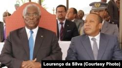 Presidente da República Manuel Pinto da Costa e Primeiro-ministro Patrice Trovoada.