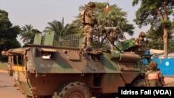 Soldat francês em Bangui, CAR.