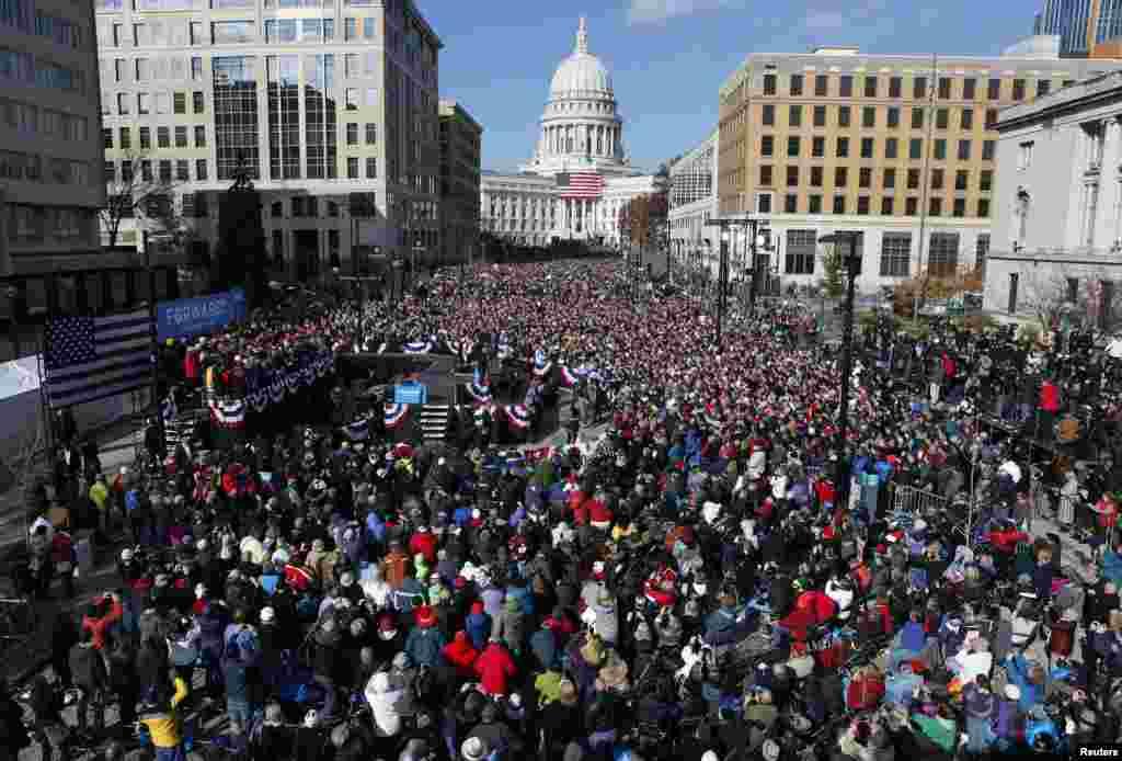 Dernier jour de campagne du président Obama à Madison, dans le Wisconsin, le 5 novembre 2012