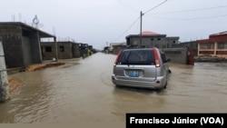 Bairro de Manganhe, arredores da cidade da Beira, inundado devido ao ciclone Eloise, Moçambique