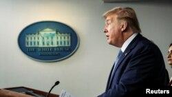 Predsednik Tramp govori o pandemiji koronavirusa u Beloj kući, 16. marta 2020.
