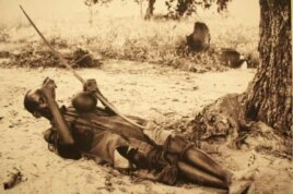 Hugh Tracey recorded unique music, such as this man playing a bow, all over Africa