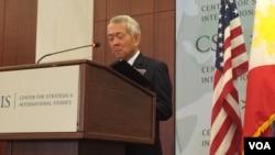 菲律賓外交部長佩費克托雅賽9月15日星期四在華盛頓智庫戰略與國際研究中心(CSIS)就菲律賓新政府的外交政策和美菲關係發表演講。