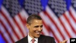 奥巴马总统4月14日在芝加哥举行的一场募捐会上