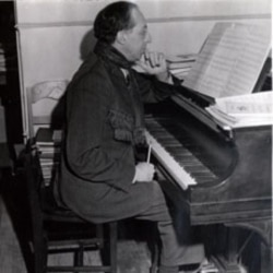 The famous composer began playing the piano as a child