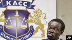 肯尼亚反腐败委员会主任卢蒙巴(资料照片)