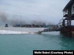 Kapal Isap Produksi timah di Bangka-Belitung. (Foto:Walhi Babel)