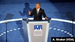 Tổng thống Obama nói từ trước tới nay, không có một người nào, dù nam hay nữ, hội đủ các điều kiện để làm tổng thống hơn là bà Clinton.