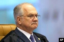 Brazil Supreme Court Judge Edson Fachin attends a Supreme Court session in Brasilia, Brazil, June 28, 2017.