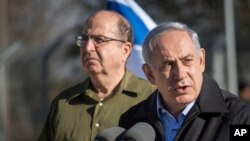 موشه یعلون در کنار بنیامین نتانیاهو نخست وزیر اسرائیل (راست).