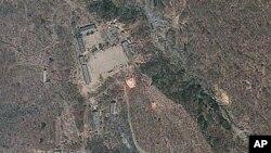 지난 달 18일 촬영한 북한 풍계리 핵실험장 주변 위성사진.