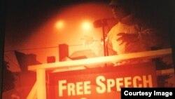 Quyền tự do biểu đạt là quan trọng trong đời sống Mỹ. (Ảnh: Bùi Văn Phú)
