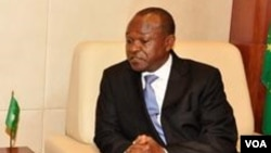 """FILE - AU Commission Deputy Chairman Erastus Mwencha, condemning the coup in Burkina Faso, says """"any change of power must follow the constitutional process."""""""