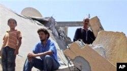 나토 공습으로 파괴된 즐리탄의 건물