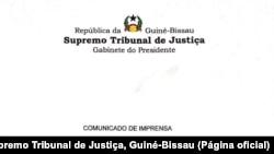 Comunicado do Supremo Tribunal de Justiça