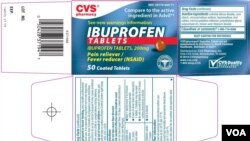 Ibuprofen ağrını və qızdırmanı azaltmaq üçün ABŞ-da geniş istifadə olunur.