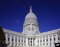 The capitol building, not in Washington, but in a city named for a president: Madison, Wisconsin.