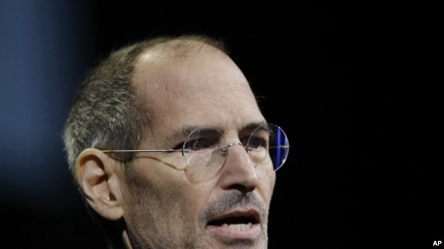Apple CEO Steve Jobs gives the keynote address to the Apple Worldwide Developers Conference in San Francisco (File)