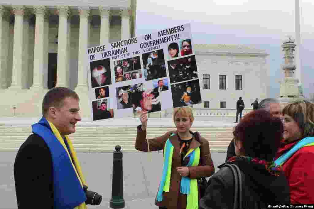 Мітинг діаспори перед слуханнями у Сенаті по Україні