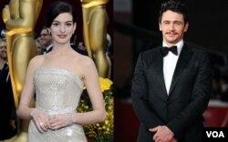 Aktris Anne Hathaway dan aktor James Franco akan membawakan ajang penghargaan Academy Awards 2011 yang akan berlangsung 27 Februari di Kodak Theatre, Hollywood.
