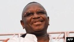 Le président de la Sierra Leone, Julius Maada Bio, Freetown, le 7 avril 2018.
