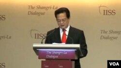 Thủ tướng Việt Nam Nguyễn Tấn Dũng đã phát biểu trong phiên họp khai mạc cho cuộc họp Shangri-La bàn về an ninh khu vực Đông Nam Á.