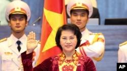 Bà Nguyễn Thị Kim Ngân tuyên thệ nhậm chức Chủ tịch Quốc hội Việt Nam hôm 31/3/2016