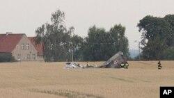Обломки МиГ-29 польских ВВС. Польша, 6 июля 2018 г.