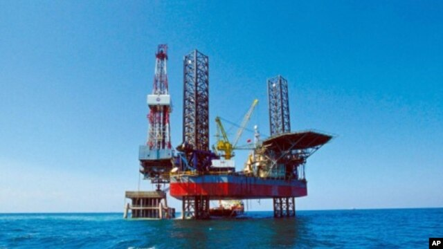 FILE - China National Offshore Oil Corporation's (CNOOC) oil rig in Bohai Sea.