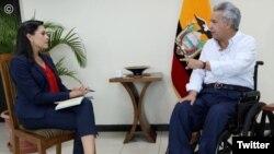 El presidente Lenín Moreno reiteró que la cancelación del subsidio a los combustibles fue una medida correcta. Foto de la cuenta de Twitter de la Presidencia de Ecuador el 10 de octubre de 2019.