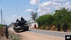 Kifaru cha jeshi la Kenya mjini Garissa