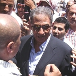 Former Egyptian Foreign Minister Amr Moussa in Cairo, Egypt's Tahrir Square, July 8, 2011