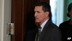 FILE - Then-national security adviser Michael Flynn in seen the East Room of the White House in Washington, Feb. 13, 2017.