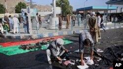 2016年7月23日阿富汗首都喀布尔炸弹爆炸现场