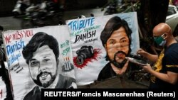 Murali u pomen poginulog novinara Daniša Sidikija u Mumbaju u Indiji (REUTERS/Francis Mascarenhas)