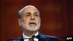 미국 뉴욕경제클럽 연설에서 `재정 절벽' 위험성을 경고하는 벤 버냉키 미국 연방준비제도 의장 (자료사진)