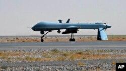 Hình tư liệu - Máy bay không người lái được trang bị tên lửa Predator của Hoa Kỳ.