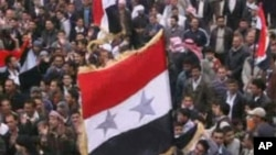 ການໂຮມຊຸມປະທ້ວງຕໍ່ຕ້ານລັດຖະບານຊີເຣຍ ທີ່ເມືອງ Jasim ເມືອງ Deraa ແລະເມືອງ Governorate (22 ເມສາ 2011)