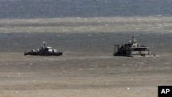 한국 해군 군함이 연평도 주변을 순찰하고 있다. (자료사진)