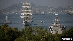 Puerto de Acapulco, en el estado de Guerrero, en México, que se ha declarado en quiebra.