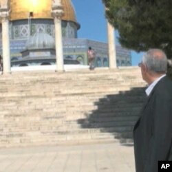 Mohamed Dajani, standing outside the Dome of the Rock, has roots in Jerusalem that go back hundreds of years.