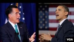 奧巴馬和羅姆尼的合成照片