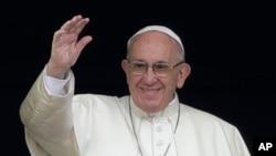 羅馬天主教宗方濟各。( 資料照片)