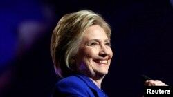 Hillary Clinton wadda ta lashe zaben fidda gwani na jam'iyyar Democrat