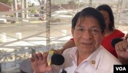 El canciller de Nicaragua, Denis Moncada, se expresa en contra de adelantar elecciones en su país.