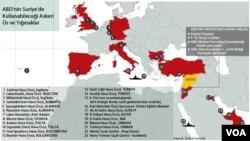 ABD'nin Avrupa ve Ortadoğu'daki askeri üs ve yığınakları