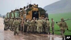 Турецкие военнослужащие в Сирии
