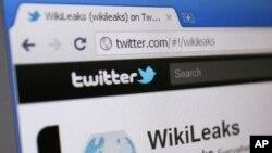 维基揭秘的推特网页(资料照)